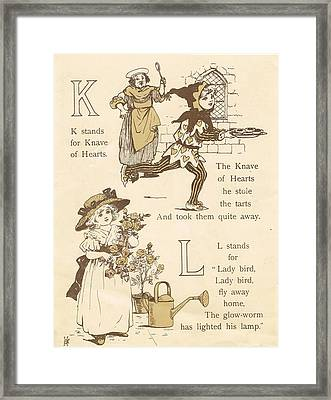 K And L Abc Book Framed Print by Reynold Jay