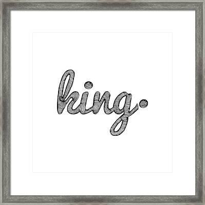 K I N G _________________ B L A C K Framed Print