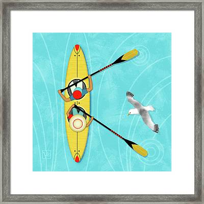 K Is For Kayak And Kittiwake Framed Print