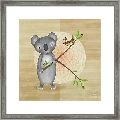 K Is For Koala Framed Print