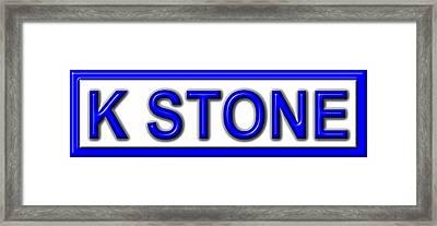 K Stone Framed Print