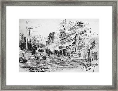 K Varnali Street Nea Erythraia  Framed Print