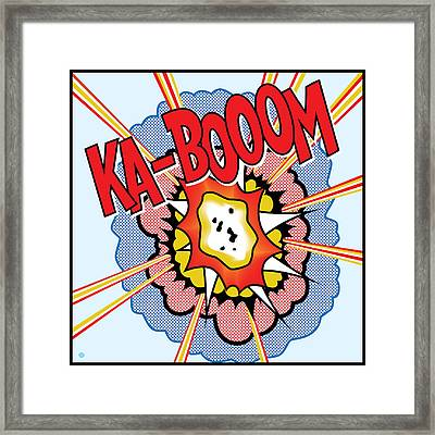 Ka-booom Framed Print