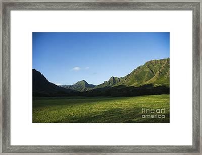 Kaaawa Valley Framed Print by Dana Edmunds - Printscapes