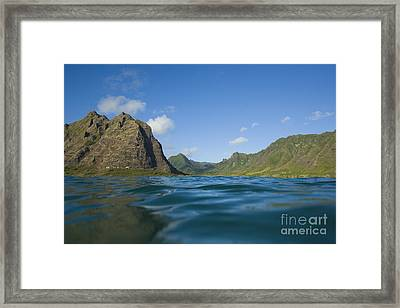 Kaaawa Valley From Ocean Framed Print by Dana Edmunds - Printscapes