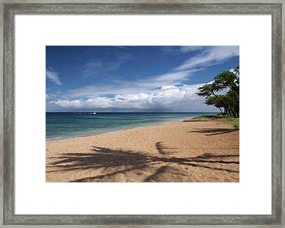 Framed Print featuring the photograph Ka'anapali Beach - Maui by Rau Imaging
