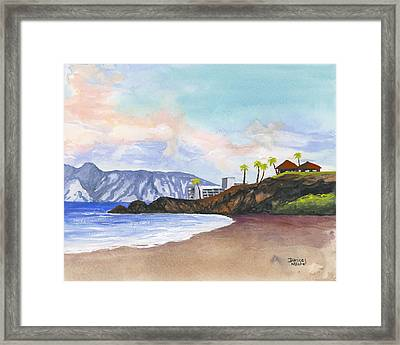 Framed Print featuring the painting Kaanapali Beach by Darice Machel McGuire
