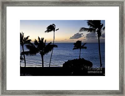 Ka'anapali Beach Maui Framed Print by Rosy Kueng