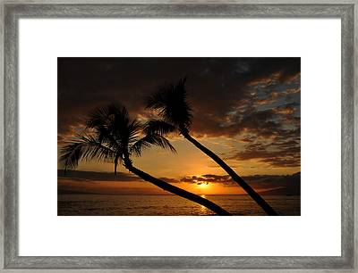 Ka'anapali Beach Sunset Framed Print by Kelly Wade