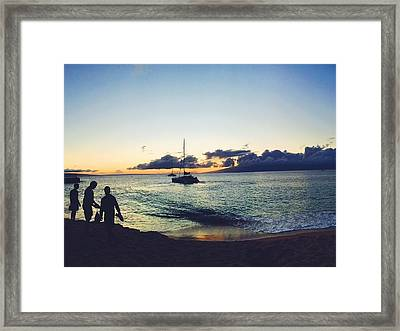 Kaanapali Sunset #1 Framed Print by Stacia Blase