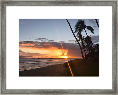 Kaanapali Sunset #2 Framed Print by Stacia Blase