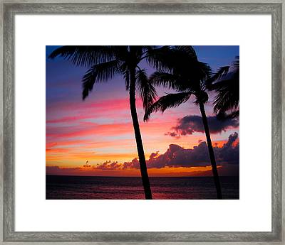 Kaanapali Sunset  Kaanapali  Maui Hawaii Framed Print