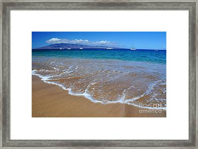 Framed Print featuring the photograph Ka'anapali Waves by Kelly Wade