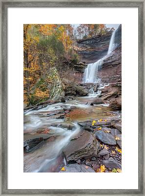 Kaaterskill Falls Autumn Portrait Framed Print