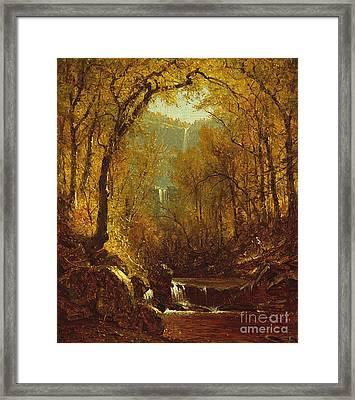 Kaaterskill Falls Framed Print by Sanford Robinson Gifford