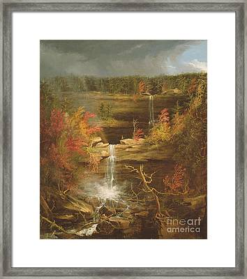 Kaaterskill Falls Framed Print by Thomas Cole