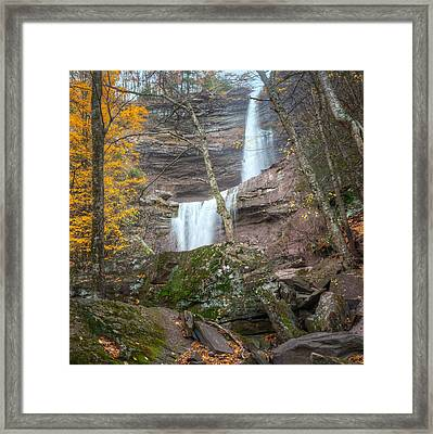 Kaaterskill Falls Thru The Forest Square Framed Print by Bill Wakeley