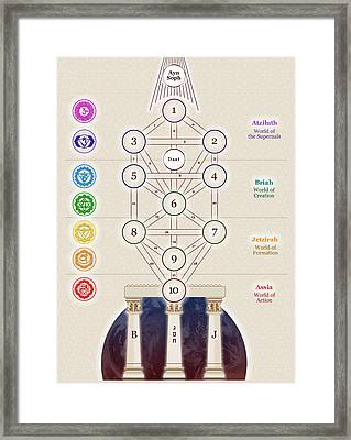 Kabbalistic Tree Of Life Framed Print by Selim Oezkan