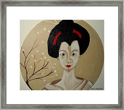 Kabuki Girl Framed Print
