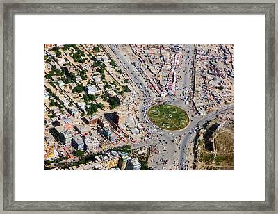 Kabul Traffic Circle Aerial Photo Framed Print