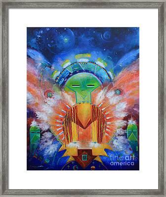 Kachina Spirit Framed Print by Gail Salitui