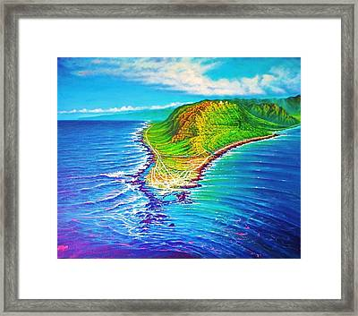 Kaena Point Refractions Framed Print
