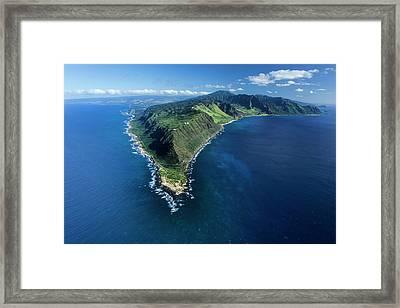 Kaena Point Framed Print by Sean Davey