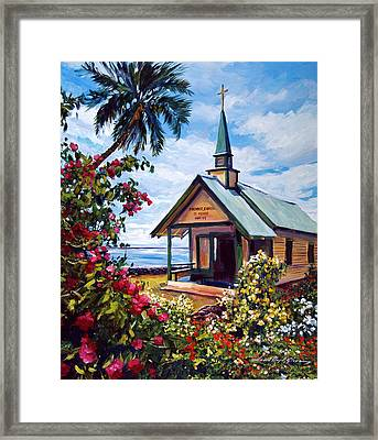 kahaalu Church Hawaii Framed Print