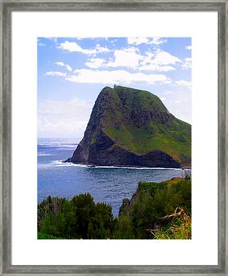 Framed Print featuring the photograph Kahakuloa Point- Island Dreaming by Diane Merkle