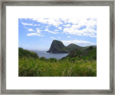 Framed Print featuring the photograph Kahakuloa Point- Island Dreaming II by Diane Merkle