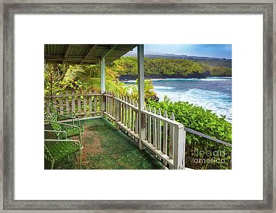 Kahanu Porch Framed Print by Inge Johnsson