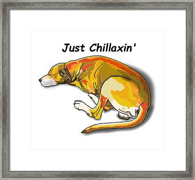 Kai Chillaxin' Framed Print