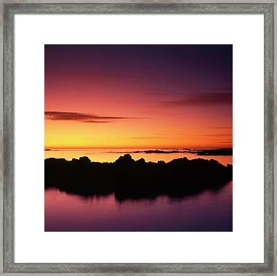 Kaikoura Sunrise, New Zealand. Framed Print