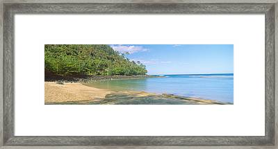 Kailio Beach In Haena State Park, Na Framed Print by Panoramic Images