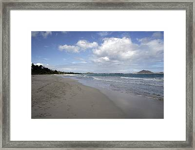 Kailua Beach, Oahu Framed Print