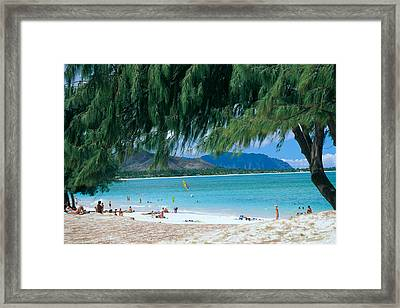 Kailua Beach Park Framed Print by Peter French - Printscapes