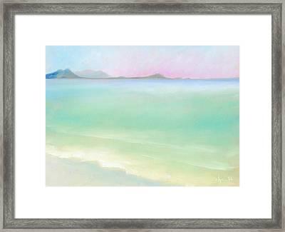Kailua Sunrise Framed Print by Angela Treat Lyon
