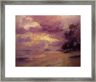 Kailua Sunrise Framed Print by R W Goetting