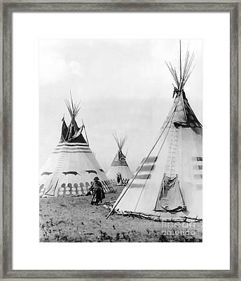 Kainai Village, C1913 Framed Print by Granger