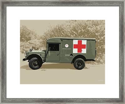 Kaiser Jeep M725 Army Framed Print
