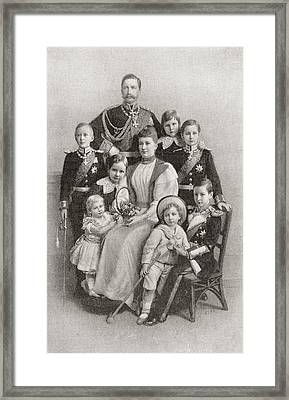 Kaiser Wilhelm II With His Wife Augusta Framed Print