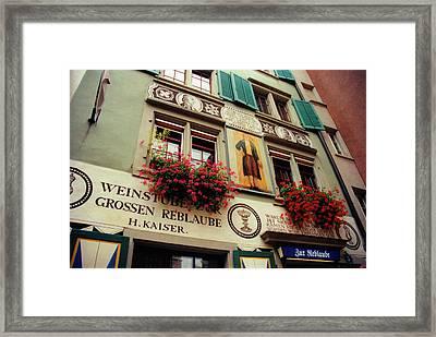 Kaisers Reblaube In Zurich Switzerland Framed Print by Susanne Van Hulst