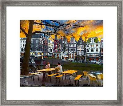 Kaizersgracht 451. Amsterdam Framed Print