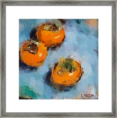 Framed Print featuring the painting Kaki by Dragica  Micki Fortuna