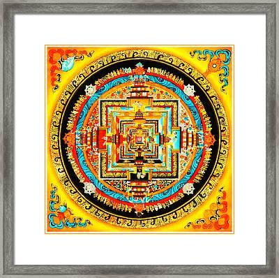 Kalachakra Mandala Framed Print