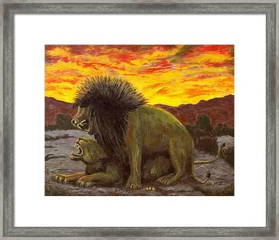 Kalahari Sunset Framed Print by George I Perez