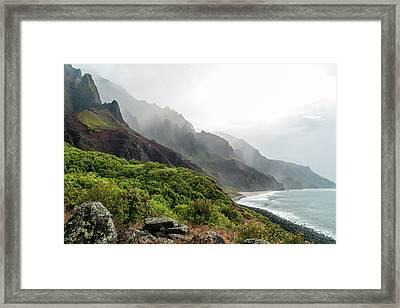 Kalalau Beach Framed Print