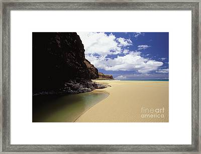 Kalalau Beach, Empty Framed Print by Peter French - Printscapes