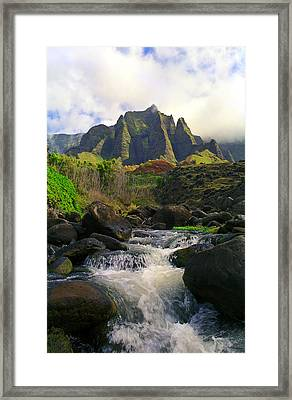 Kalalau Cathedral Framed Print by Kevin Smith