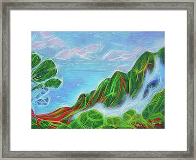Kalalau Mists Framed Print